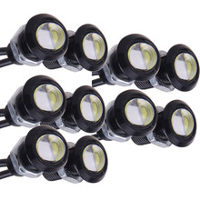 10pcs 9W 18mm led car lights DRL daytime running light reverse parking lamp car styling light source bulb hot selling
