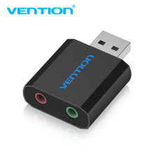 Vention Sound Card USB To Jack 3.5mm Female Headphone External Audio card USB Headset Adapter For Speaker Laptop PC Amplifer M(China)