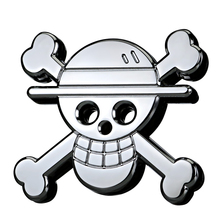 6.2x5.2cm One Piece Pirate King Luffy Skull Chrome Metal Zinc Alloy Car Styling Refitting Emblem Badge Cool 3D Sticker(China)