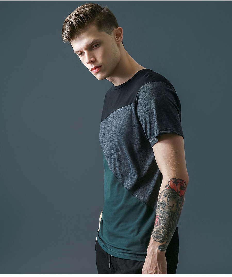 6 Designs Mens T Shirt Slim Fit Crew Neck T-shirt Men Short Sleeve Shirt Casual tshirt Tee Tops Mens Short Shirt Size M-5XL 7