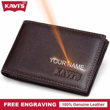 Popular engraving business card buy cheap engraving business card kavis brand cow genuine leather credit card holder 14 card slot men male business purse id colourmoves
