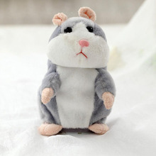 MOONBIFFY Talking Hamster Mouse Plush Toy Hot Cute Speak Talking Sound Record Hamster Educational Appease Toy For Girl Children(China)
