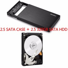 "2.5"" inch Aluminum alloy HDD case + 320GB HDD USB3.0 Micro B 320GB Portable External Hard Disk Drive for Desktop Laptop(China)"