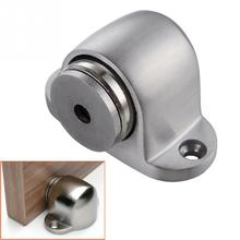 2016 NEW Stainless Steel Magnetic Sliver Door Stop Casting Powerful Mini Door Stopper Holder Catch For Bedroom Home(China)