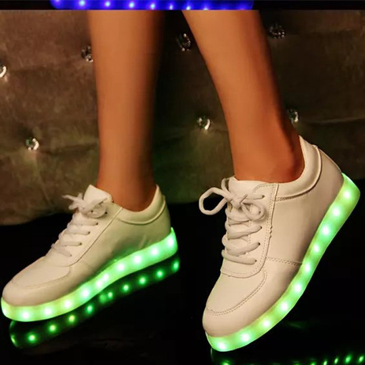 2017 New Arrival Led Shoes Womens Coloful Lights Flats Light Up shoes For Adults VJ016<br><br>Aliexpress
