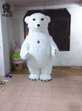 New Style Inflatable Costume Inflatable Polar Bear For Advertising 2M Tall Customize For Adult Suitable For 1.6m To 1.8m Adult(China)
