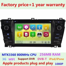 HD Touch Screen Car DVD Player for Toyota Corolla 2013 2014 2015  Bluetooth iPhone5 1080P USB Radio Stereo GPS Navigation System