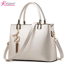 Bolso Mujer 2017 Fashion Hobos Women White Bag Ladies Brand Leather Handbags Pink Casual Totes Bag Big Shoulder Bags For Woman
