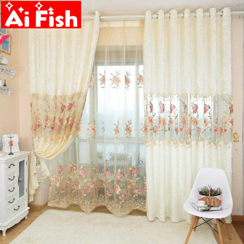 High Quantity Classic European Velvet Hollow Embroidery Brief Sitting Room Custom Cortinas for living room curtain yarn WP231-10