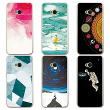 "Couple Phone Case For HTC One m7 802t 802w Dual Sim 4.7"", Universe Planet Astronauts Design Hard Plastic Coque For HTC 802W"