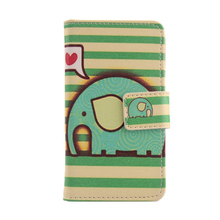 ABCTen NEW PU Leather Cover Skin Protection Flip Accessory Cute Painted Design Case For BlackBerry Q10(China)