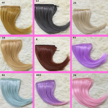 1pcs 15cm*100CM doll Wigs/hair hairstyle for 1/3 1/4 BJD/SD DIY Modeling Pink purple mint green