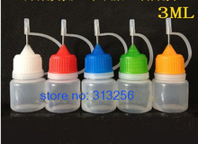 100 PICS/ LOT Factory direct sale LDPE 3 ML eye drop bottle with neddle caps(China)
