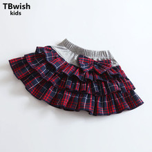 Girls Skirts Summer Style Children Kids Clothes Casual Toddler Girl Bow Mini Party Jean Tutu Skirt Baby Christmas Clothing(China)