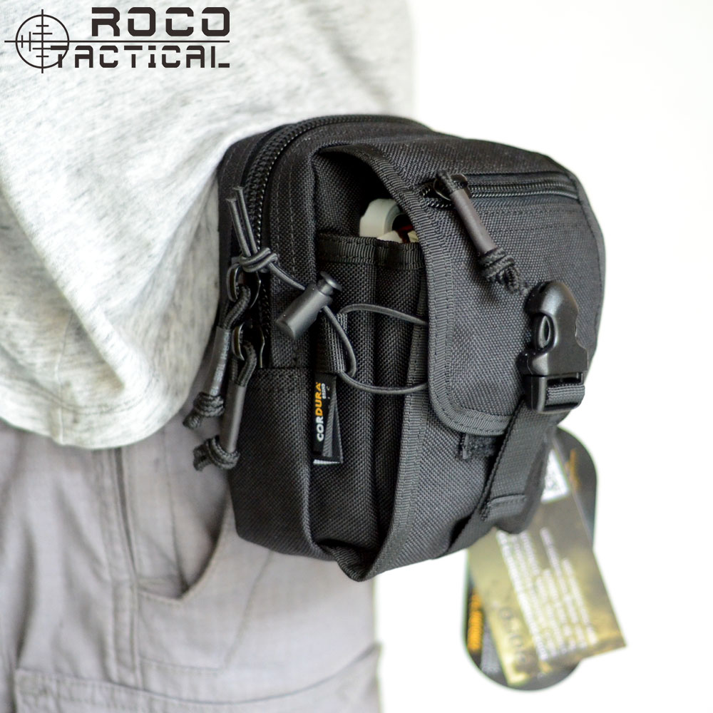 Waterproof 600D Nylon Cordura Molle Waist Pack Bag Outdoor Camping Hiking Pouch