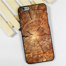 Fit for iPhone 4 4s 5 5s 5c se 6 6s 7 plus ipod touch 4 5 6 back skins phone case cover Tree Rings Wood Nature Natural