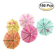 150pcs Cocktail Parasol Drink Umbrellas Paper Parasol Picks For Drinks Hawaiian Party And Pool Beach Party Supplies Decoration