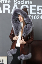 Artificial suede sheepskin Fur Faux Women's coats Faux Fox fur collar Fashion New style Direct supply from factory customization