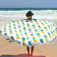Pineapple Bath Towl Round Mandala Tapestry Outdoor Beach Towel Picnic Blanket Boho Printed Wink Hippie Towels Beach Yoga Mat