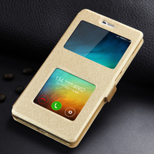 Leather Case For Xiaomi Redmi 4 Pro Mobile Phone Bag 5.0 Inch High Quality With Window View  Safety Protector Flip Case