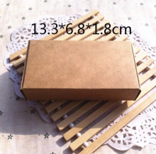 HZ18, Wholesale 13.3*6.8*1.8cm 50pcs/lot Brown Kraft Carton Boxes, Paper Boxes, Packing Box, cajitas kraft Free Shipping(China)