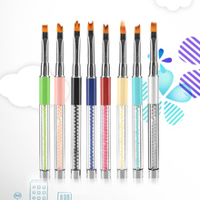 1PC Nail Art Brush Metal Smile Moon French Gradient 3D Pen UV Gel Polish Painting Drawing Petal Flower Line Manicure Tool