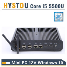 New Intel 5th Gen Core i7 5500U 5600U Mini PC Windows 8.1 Mini Computer Windows 10 Minipc 4K HD HTPC TV box 2* HDMI 2*LAN minipc(China)
