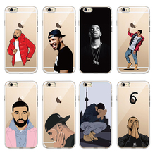 Cute Sexy Drake One Dance 6 God 1 800 Hotline Bling Soft Phone Fundas Coque For iPhone 7 7Plus 6 6S 6Plus  8 8PLUS X  SAMSUNG