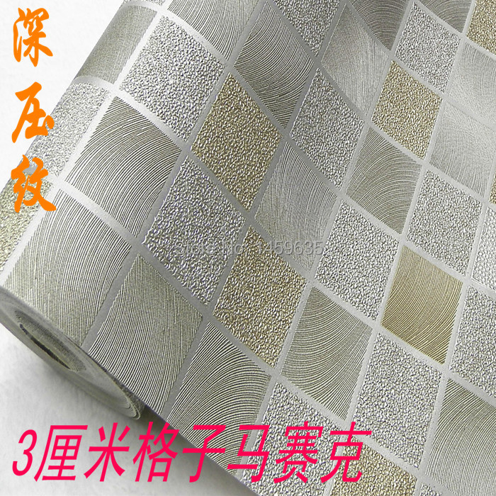Modern Square Pattern Waterproof Wallpaper,Beige And Gold Wallpaper For Kitchen,Bathroom,  0.53*10m Wallpaper Roll For Walls<br><br>Aliexpress