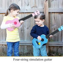 The simulation guitar Children's Musical Toys Educational toys Four-string guitar Toy Musical Instrument
