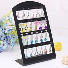 48 Holes Black Jewelry Organizer Stand Earrings Holder Display #30894