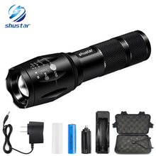 CREE XM-L T6 LED Flashlight 5 Modes Big Promotion Ultra Bright 4000 Lumens Zoomable LED Torch 18650 Battery + AC Charger + gift(China)