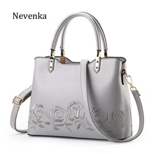 Nevenka 2017 New Women Bag Zipper Handbag Quality Flower Bags Embroidery Tote Lady National Bag Female Fashion Messenger Bags(China)