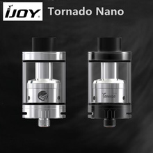 Original IJOY Tornado Nano RTA 4ml capacity Atomizer with 18.6mm Two Post Deck Top Filling For E Cigarette 510 thread Box Vape(China)