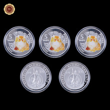 WR Festival Souvenir Gifts Cute Animal Metal Coin 1 Oz 999.9 Silver Coin Home Decorative Challenge Coins with Plastic Case(China)