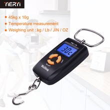 Yieryi Mini Pocket LCD Hanging Hook Fish Scale high Precision balanca digital weighing scale for food 45kg 10g crane scale(China)