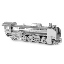 New Creative Railway Engine 3D Metal Model Puzzles DIY Steam Locomotive Jigsaws Adult/Children Gifts Toys Retro Train
