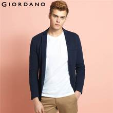 Giordano Men Blazer Jacquard Long Sleeves Outerwear Casual Blazers Notch Lapel Blazer Masculino Brand Clothing