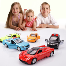4PCS/Set 1:64 Diecasts Alloy Model Car Toy  Machines Kids Toys  colors by random  for Children