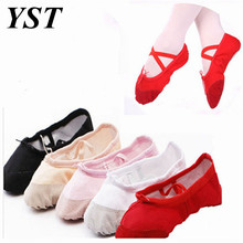 Ballet Dance Dancing Shoes Pointe For Children Kids Girls Women Soft Flats Shoes Comfortable Fitness Breathable Slippers WD001(China)