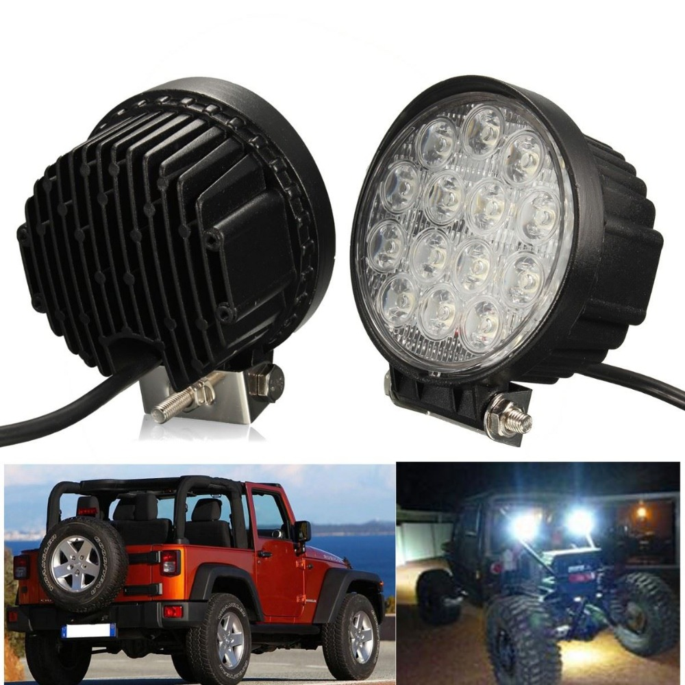 4.2 42W LED Work Light Round 42W LED Work Light Off-road Driving Lamp Offroad Driving LED Fog Light<br><br>Aliexpress