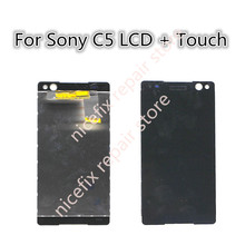 LCD Display Touch Screen Digitizer Assembly Replacement Black For Sony Xperia C5 Ultra E5506 E5533 E5563 E5553 with Tracking No.