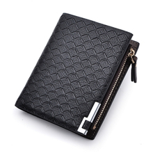 Fashion Designer leather Men wallet with coin purse Brand Coins Pocket billfold for man card holder(China)