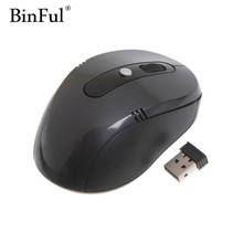 BinFul Professional Optical Wireless Mouse 6 Buttons USB Mice 2.4GHz With Mini USB Dongle For PC Laptop Win7/8/10/XP/Vista
