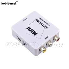 kebidumei New Mini AV Male to HDMI Female Converter AV2HDMI RCA Composite video audio signals to HDMI signals AV2HDMI Converter(China)