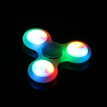 Glow in Dark Triangle Gyro LED Finger Spinner Fidget Plastic Hand For Autism/ADHD Anxiety Stress Relief Focus Toys Gift 7 Styles
