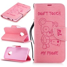 Bear Embossed Phone Case For Motorola Moto G5 Plus Case Leather Card Holder Durable Telephone Accessories  XT1687 XT1684 XT1685