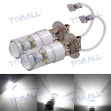 FINAL SALE 2pcs H3 Car LED Fog Light,360 Degree Daytime Running White DC 12V