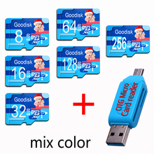 Goodisk Micro SD Card 128GB 16GB 32GB 64GB Class 10 Microsd Memoria SDXC 8GB Memory Card with Adapter TF SD Card For Smartphone(China)