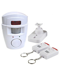 Hot Sale New Wireless House Safety System Security IR Infrared Motion Sensor Alarm Detector + 2 Remote Control + Retail Package